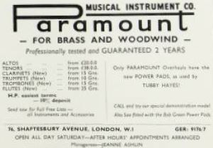 Advertisement of Paramount Instrument Company